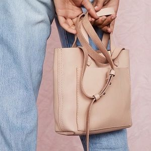 Madewell Small Transport Leather Tote Crossbody